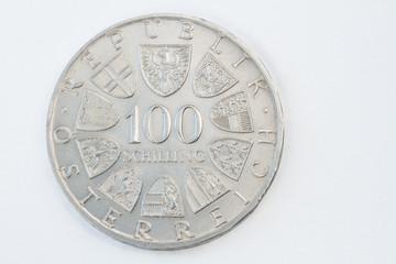 Vorderseite einer 100 Schillingmünze aus dem Jahr 1979