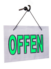 offen sign