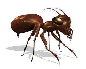 Ant - Extreme Close Up - 3D render