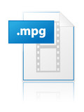 MPG icon (video clip avi mpeg file format extension type vector)