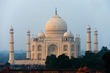 Sunset Taj Mahal at a Distance
