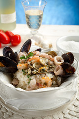 sea fruits risotto- risotto ai frutti di mare