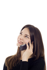 Woman enjoy talking on the phone