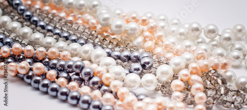 pearls, plastic and glass jewelry - 23617427