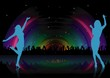 Rainbow Dance Party - background illustration