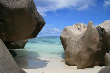 La Digue, Seychellen, Anse Source D'Argent 2