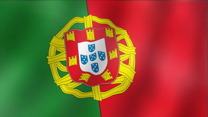 Portugal - waving flag detail