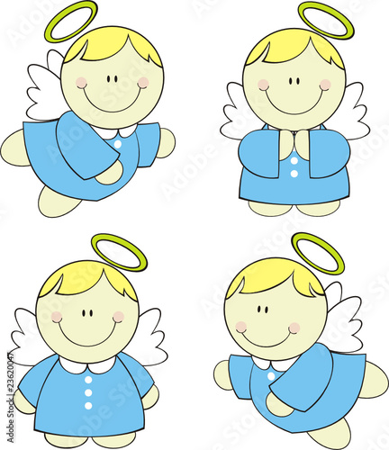 little cute angels set