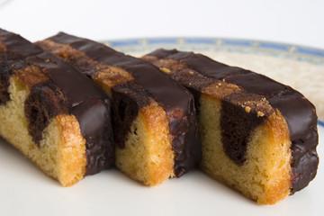 chocolate en el bizcocho