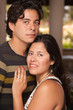 Attractive Hispanic Couple Portrait Outdoors