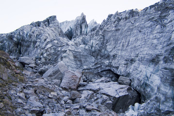 A glaciers terminal side