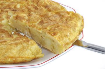 Porción de tortilla.
