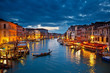 Leinwandbild Motiv Grand Canal at night, Venice