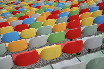 gradins multicolores