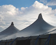 Circus Tents with Cumulus Clouds