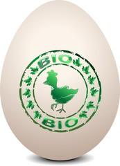 Uovo Biologico con Marchio-Biological Egg-Vector