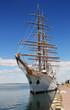 sailing ship at the wharf