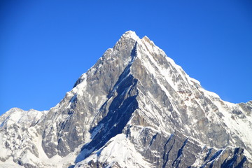 Machhapuchhre and Blue Sky