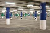 Fototapety Empty underground parking