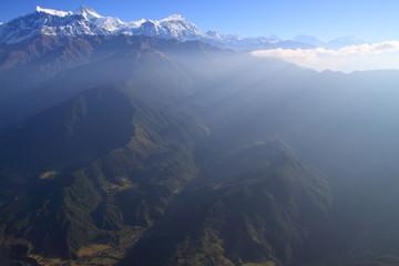 Himalaya and Blue Sky