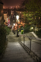 Lamplight, cafes and steep steps