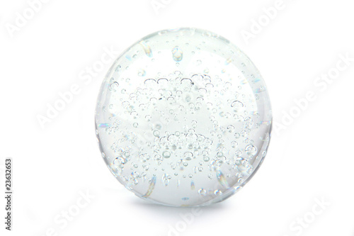 Crystal ball isolated on white