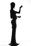 Silhouette of the antique goddess poster