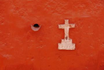 White cross, Monasterio de Santa Catalina, Arequipa,Peru