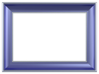 Silver-blue rectangular frame isolated on white background.