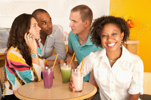 Two Couples Dining Out