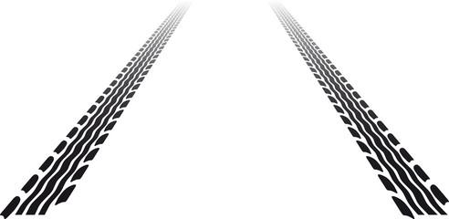 perspektivisches Reifenprofil