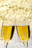 new years eve champagne toast poster