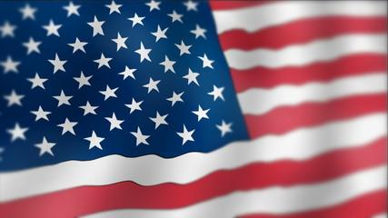 United States - waving flag detail