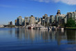Vancouver's coal harbor, view from Stanley park seawall.