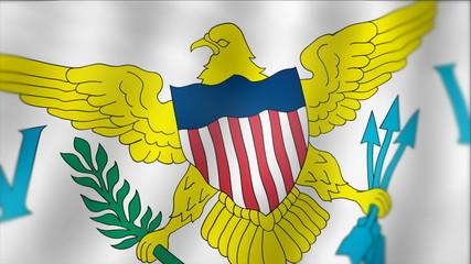United States Virgin Islands - waving flag detail