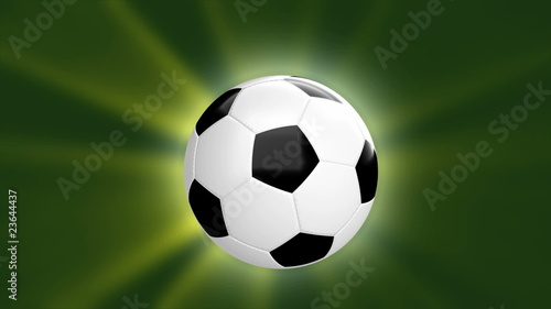 loopable CGI soccer ball - alpha channel