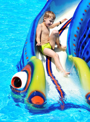 fun on water slide