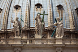 Detail of the front of St Peters basilica in Vatican City