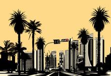 ciudad tropical moderno