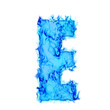 Water smoking letter E