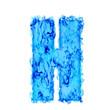 Water smoking letter H