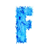Water smoking letter F