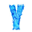 Water smoking letter Y
