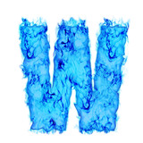Water smoking letter W