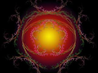 Abstract Fractal Background Design 016