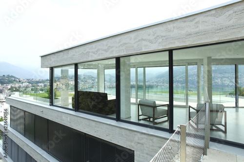 Dettaglio di casa moderna di alexandre zveiger foto stock for Disegni di casa italiana moderna