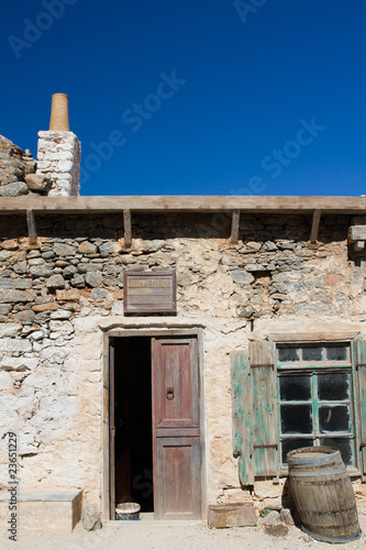 Picturesque old Mediterranean style abandoned lopsided rustic st