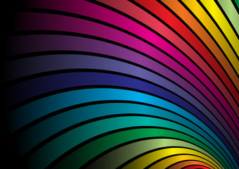 Rainbow vector  abstract lined illustration