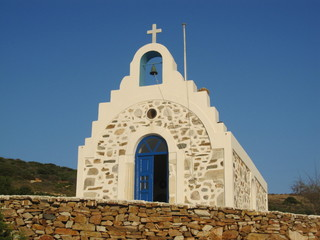 Greek chapel in Antiparos, Greece