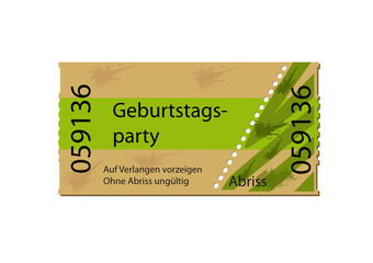 Ticket Geburtstagsparty